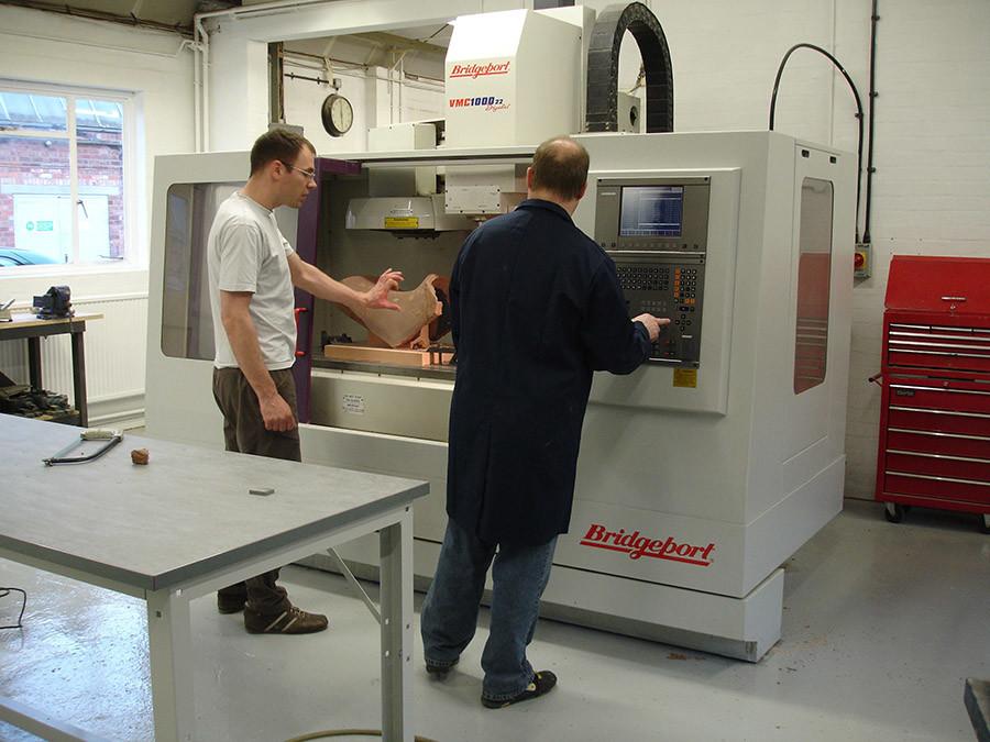 CNC machining clay models