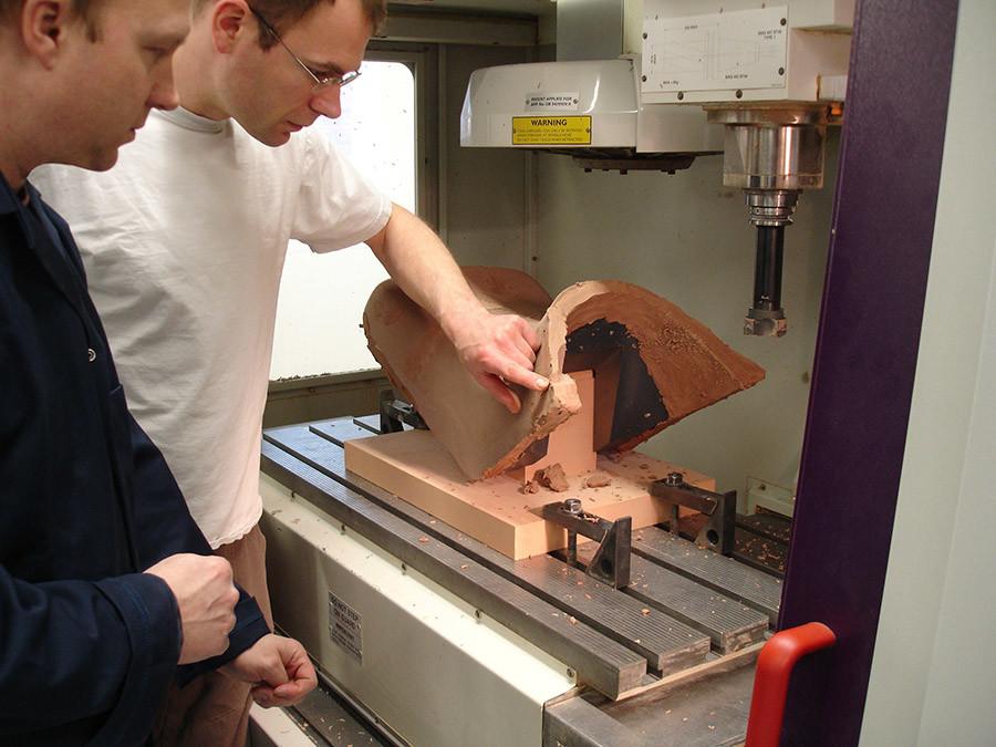 Clay model machining